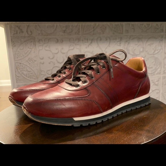 Magnanni Shoes   Chaz Leather Sneakers